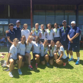 Team Meriden, winner of the 2016 National Schools Tennis Challenge