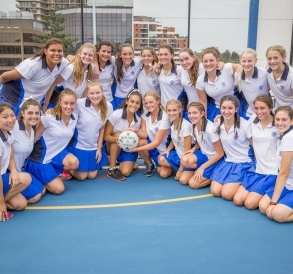 Meriden netball players celebrate the opening of their new Sports Centre