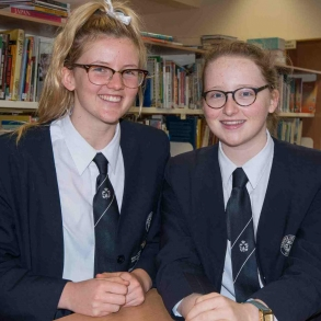Archdale Representative Debating team members Zoe Whelan-Young and Emily Halloran