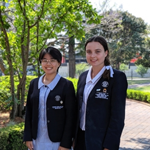Adele Dang and Liliane Spratt were both awarded places at the Festival of Speech