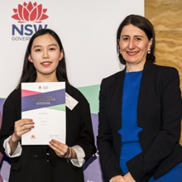 Emily Xue with Premier of New South Wales, Gladys Berejiklian