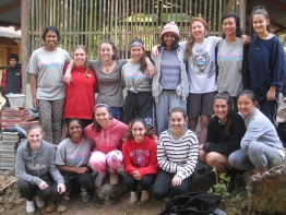 Meriden's Interact group at the Hill Tribe Village, Thailand