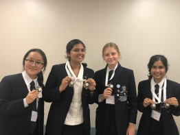 Meriden's representatives at the 2018 NSW Philosothon: Juna Suh, Ananya Deshpande, Freja Newman and Vernica Mehta